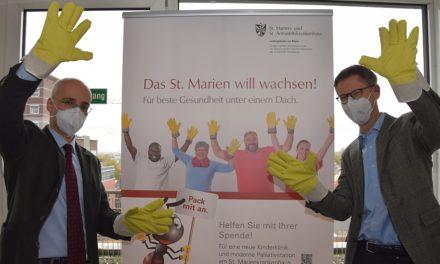 Das St. Marienkrankenhaus will wachsen! Fortschritt der Baumaßnahmen und Start der Spendenkampagne für Kinderklinik und Palliativstation – Bäckerei Theurer startet Aktion am 15. November