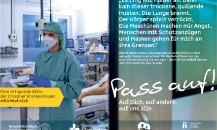 Corona bringt Dresdner Kliniken ans Limit – gemeinsamer Appell von St. Joseph-Stift, Diakonissenkrankenhaus, Universitätsklinikum und Städtischem Klinikum Dresden
