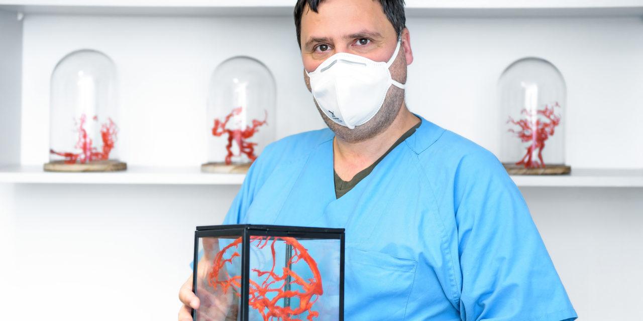Vom MRT-Bild zum neuroanatomischen 3-D-Modell: Unimedizin Halle nutzt neue Technologien für Ausbildung