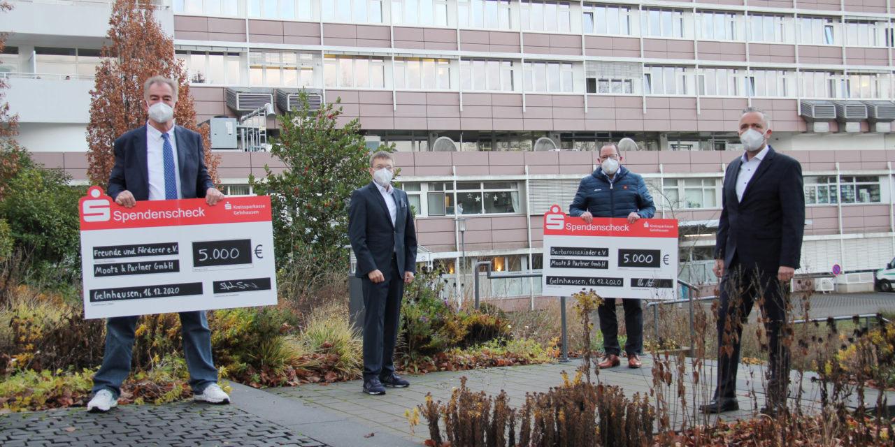 Großzügige Spende an Fördervereine der Main-Kinzig-Kliniken