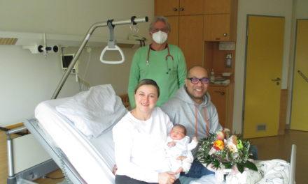 Neujahrsbaby im Krankenhaus Friedberg