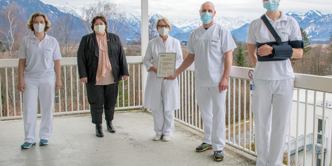 Besondere Auszeichnung für das Zentrum für Rückenmarkverletze an der BG Unfallklinik Murnau