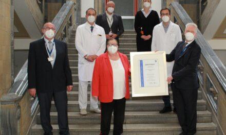Universitätsklinikum DIN-ISO 9001 zertifiziert