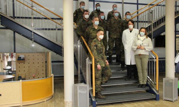 """Einsatz der """"Helfenden Hände"""" der Bundeswehr am Standort Mühlhausen"""