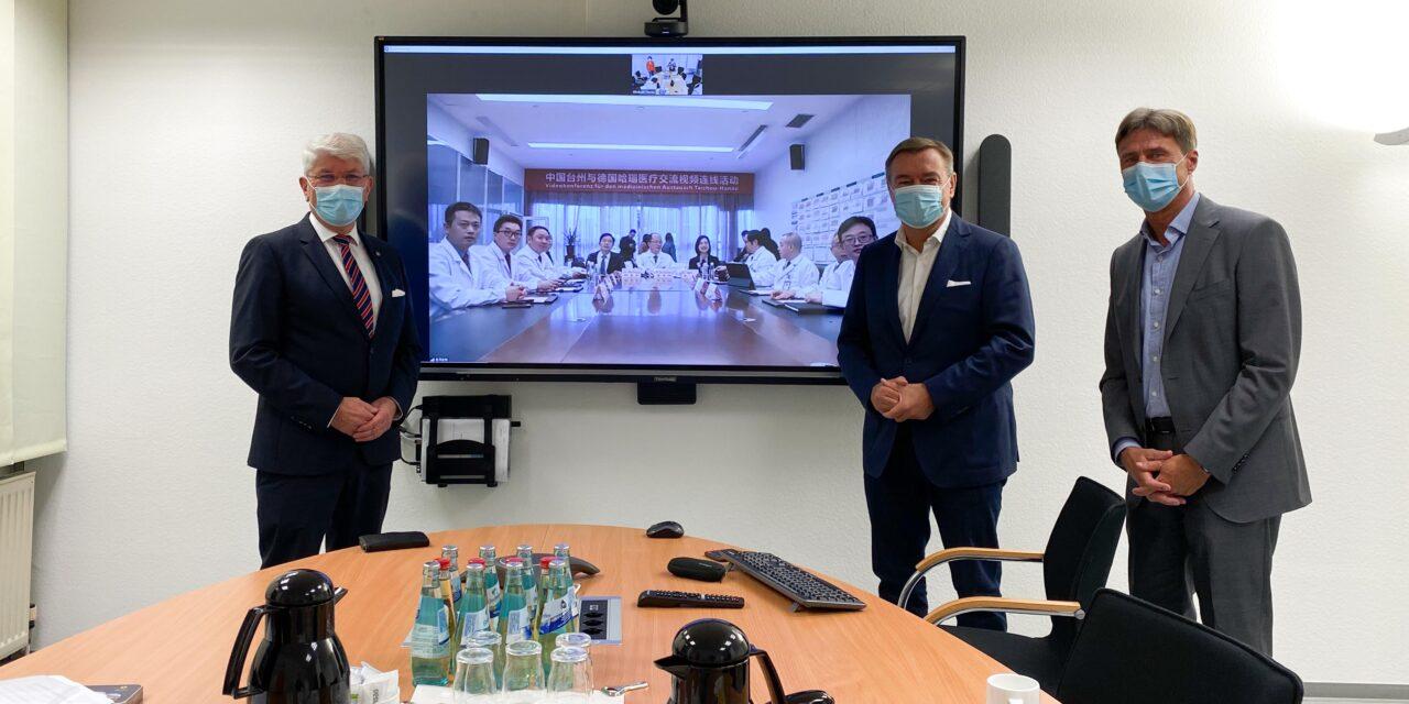 Die Corona-Pandemie bewältigen: Ärzte des Klinikums Hanau tauschen sich per Online-Meeting mit chinesischen Kollegen aus