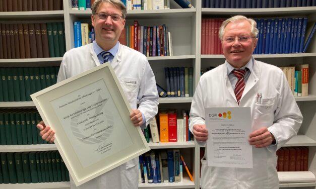 "Klinik für Infektiologie und Tropenmedizin am Klinikum St. Georg als ""Zentrum für Infektiologie (DGI)"" rezertifiziert"