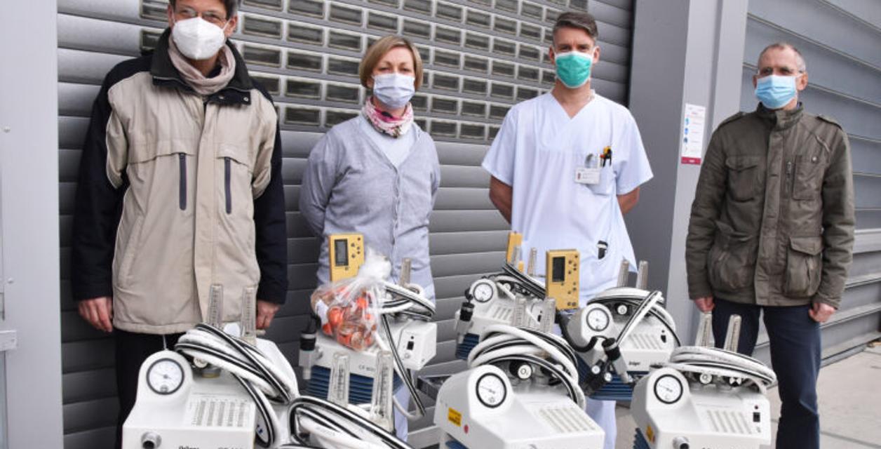 Unimedizin spendet Beatmungsgeräte für Krankenhaus in Kuba