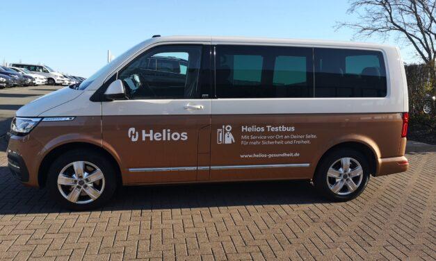 Corona Testmobile: Helios startet mobiles Angebot für Corona Tests – flächendeckend, schnell und sicher
